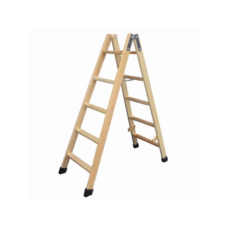 Escaleras Portatiles De Madera Materiales De