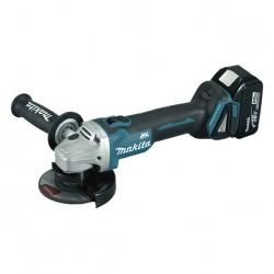 MINIAMOLADORAS MAKITA 18V 4.0AH LITIO-ION 115MM+25 DISCOS DE CORTE FINO INOX 0.8MM