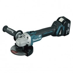 MINIAMOLADORA MAKITA 18V 4.0AH LITIO-ION 125MM+25 DISCOS DE CORTE FINO INOX 0.8MM