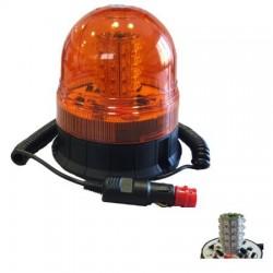 ROTATIVO GIROFARO DESTELLANTE DE LED 12-24V