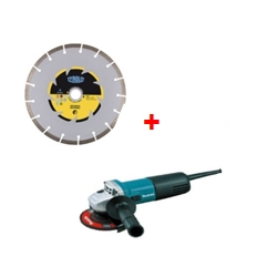 PACK MINI AMOLADORA MAKITA 720W + 8 DISCOS G.OBRA 115MM